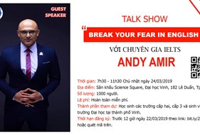 "TALKSHOW ""BREAK YOUR FEAR OF ENGLISH''"